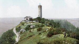 """Jena's """"Fuchsturm"""" (Fox Tower) around 1900"""